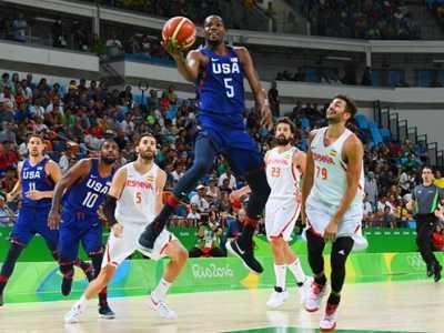 2016奥运男篮半决赛 美国vs西班牙