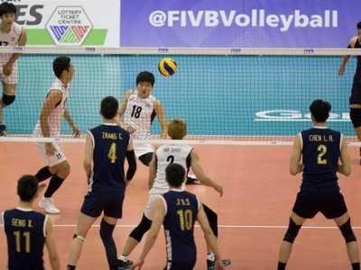 世界男排联赛中国3-1胜韩国 戴卿尧