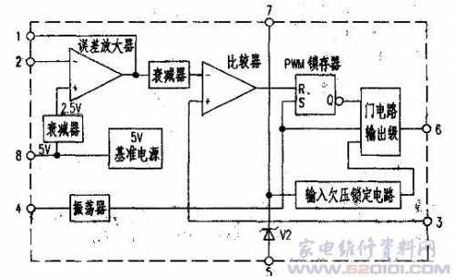 开关电源控制电路TL3842P 3842开关电源维修